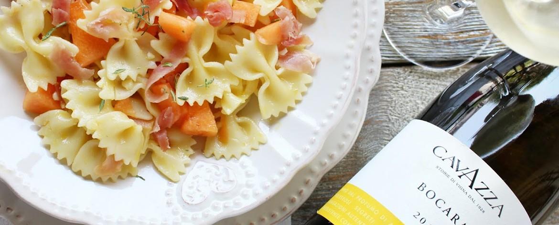 ricetta_pasta_fredda_melone_prosciutto_vino_bianco_cavazza